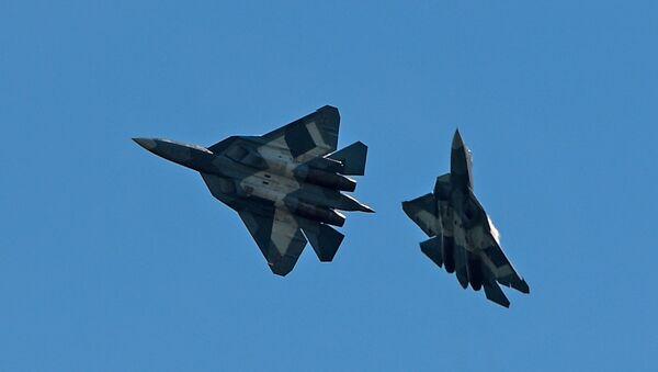 Los caza rusos Su-57 - Sputnik Mundo
