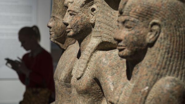 La exposición 'Nefertari y el Valle de las Reinas del Museo Egipcio de Turín' en el museo del Hermitage de San Petersburgo, Rusia, junio de 2017 - Sputnik Mundo