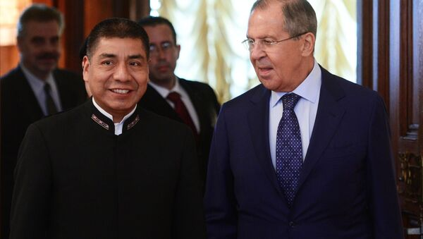Встреча глав МИД РФ и Боливии С. Лаврова и Ф. Уанакуни Мамани - Sputnik Mundo