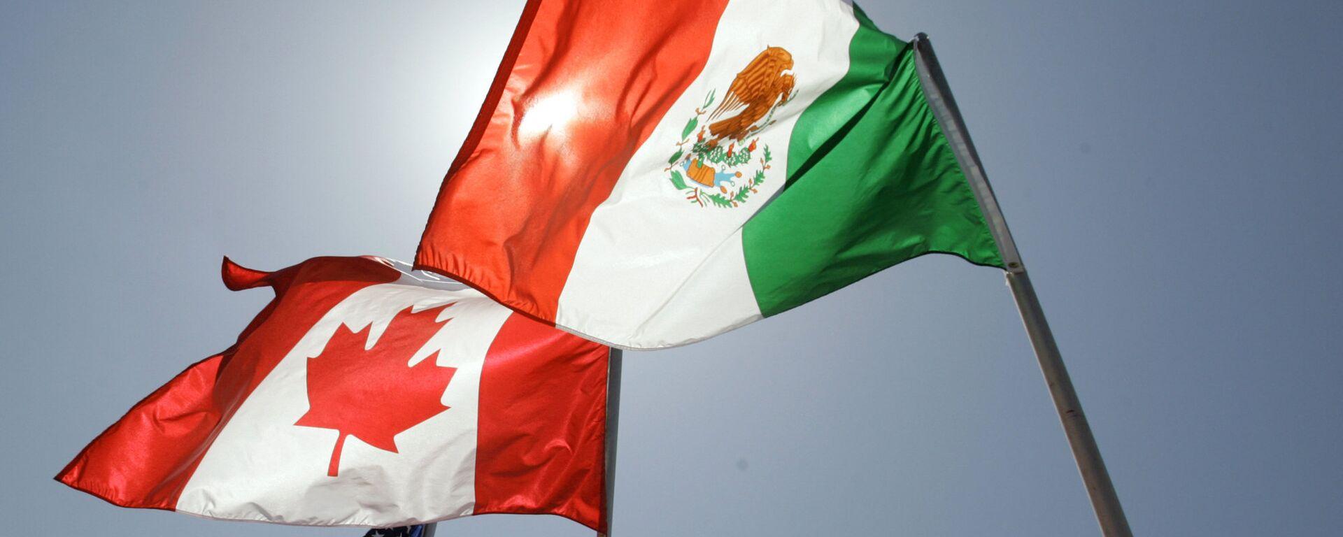 Las banderas de EEUU, Canadá y México - Sputnik Mundo, 1920, 12.10.2021