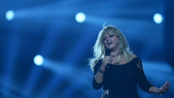 British singer Bonnie Tyler performs during the rehearsal of the final show at the 58th Eurovision Song Contest in Malmo, Sweden. 17/05/2013. - Sputnik Mundo