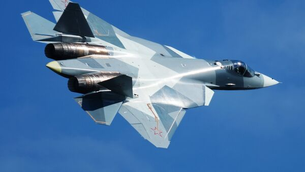 El caza ruso de quinta generación Su-57 - Sputnik Mundo