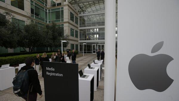 La sede de Apple en EEUU (archivo) - Sputnik Mundo