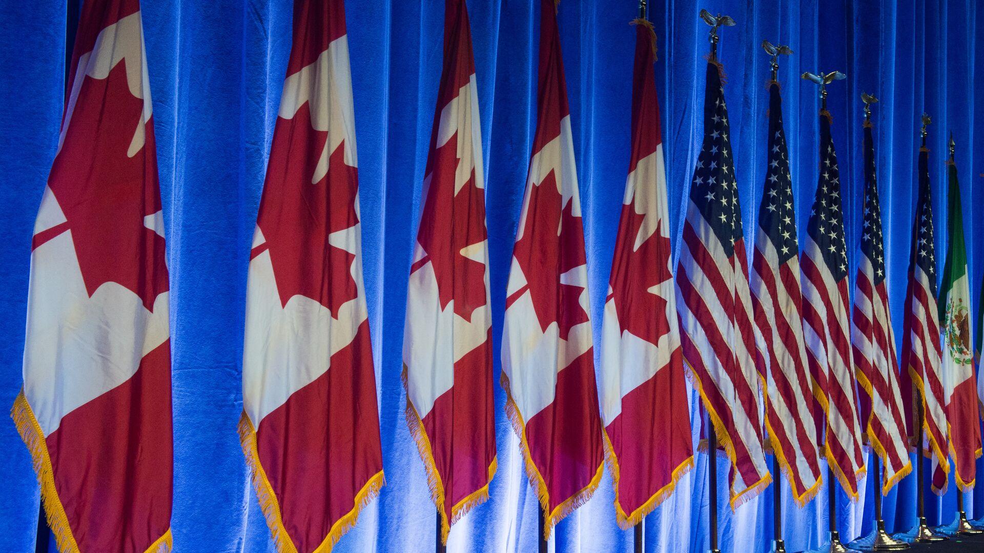 Las banderas de Canadá, EEUU y México - Sputnik Mundo, 1920, 23.09.2021
