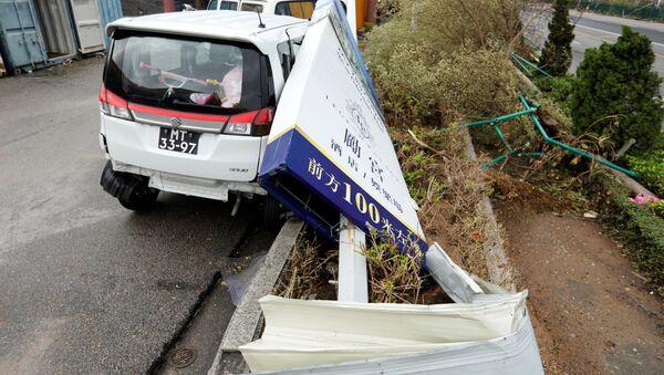 Consecuencias del tifón Pakhar en Macao - Sputnik Mundo