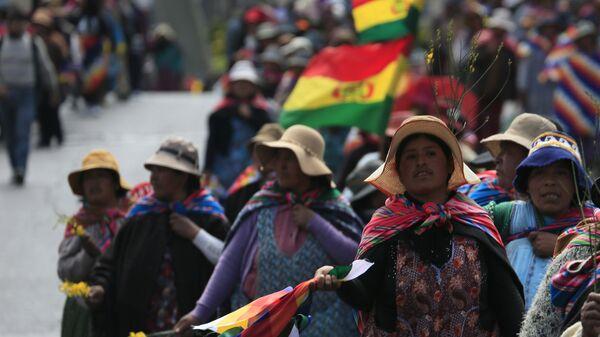 Mujeres indígenas en Bolivia - Sputnik Mundo