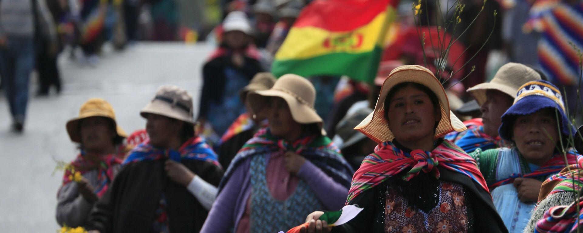 Mujeres indígenas en Bolivia - Sputnik Mundo, 1920, 19.01.2021