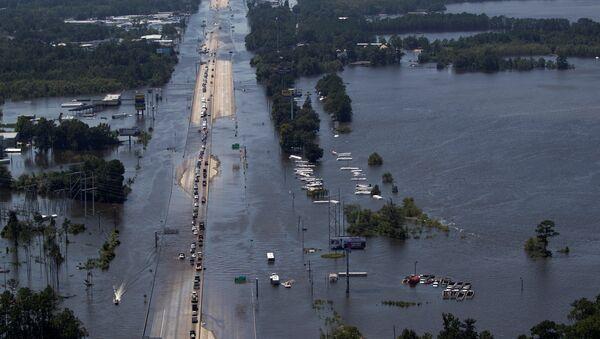Consecuencias del huracán Harvey en EEUU - Sputnik Mundo