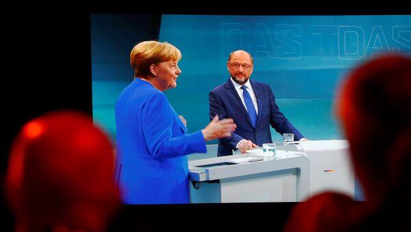 Debate electoral entre Angela Merkel y Martin Schulz - Sputnik Mundo