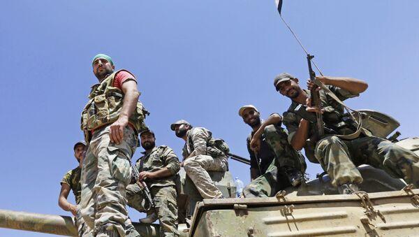 Soldados del Ejército sirio (archivo) - Sputnik Mundo