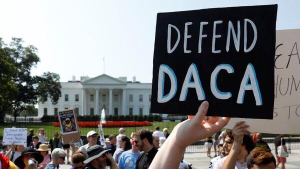La manifestación a favor de DACA en EEUU - Sputnik Mundo