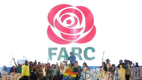 Acto de la FARC en Bogotá, Colombia (archivo) - Sputnik Mundo