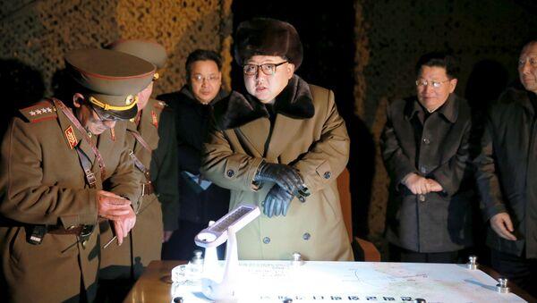 Kim Jong-un, líder de Corea del Norte (archivo) - Sputnik Mundo