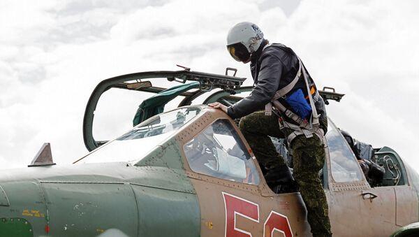 Un piloto ruso en Siria (archivo) - Sputnik Mundo