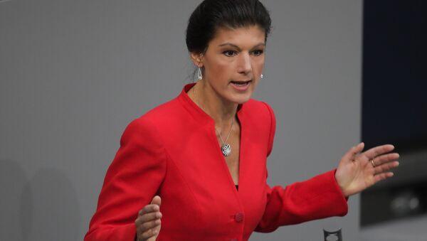 La candidata a las federales alemanas, Sahra Wagenknecht, en una imagen de archivo - Sputnik Mundo