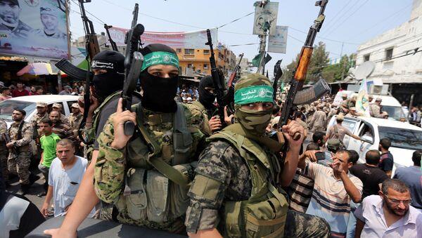 Militantes del movimiento Hamás (archivo) - Sputnik Mundo