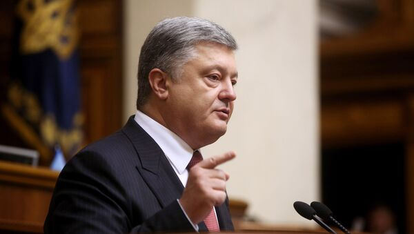 El presidente de Ucrania Petró Poroshenko - Sputnik Mundo