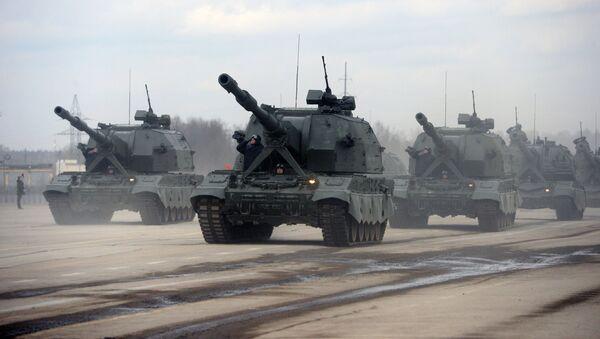 Los sistemas de artillería autopropulsados Koalitsia-SV - Sputnik Mundo