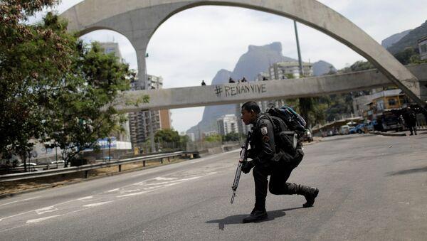 Fuerzas Armadas de Brasil en la favela Rocinha de Río de Janeiro (archivo) - Sputnik Mundo