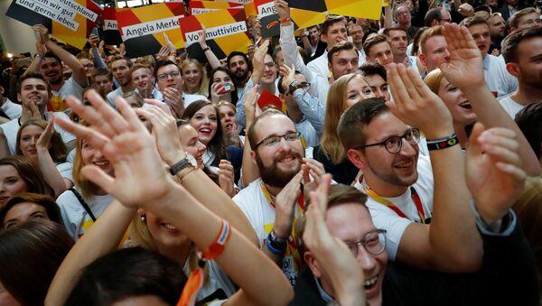 Partidarios de la Unión Demócrata Cristiana de Alemania - Sputnik Mundo