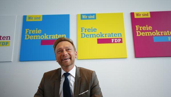 Christian Lindner, el líder del padrido Democrático Libre de Alemania (FDP) - Sputnik Mundo