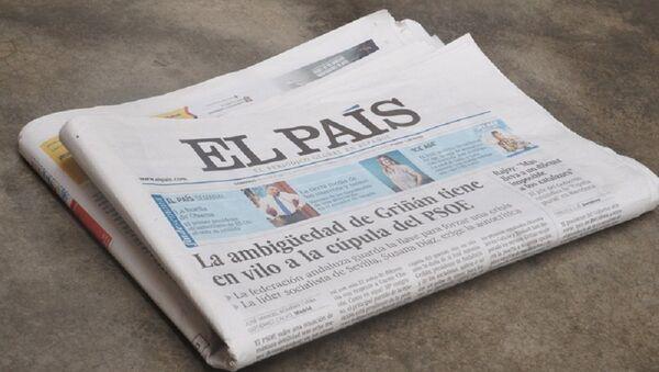 Un periódico de El País - Sputnik Mundo