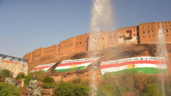 Banderas de Kurdistán en la ciudad de Erbil - Sputnik Mundo