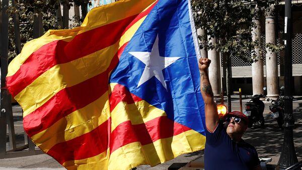 Un partidario de la independencia de Cataluña - Sputnik Mundo
