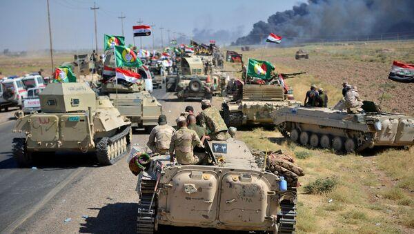 El ejército iraquí cerca de la ciudad de Hawija, Irak - Sputnik Mundo