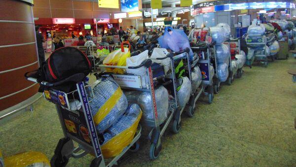 Fila de equipaje del vuelo Moscú-Habana - Sputnik Mundo