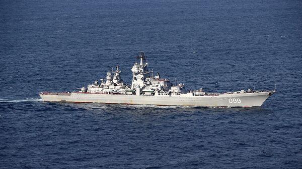 Un buque militar ruso (imagen referencial) - Sputnik Mundo