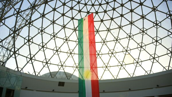 Bandera de Kurdistán iraquí - Sputnik Mundo