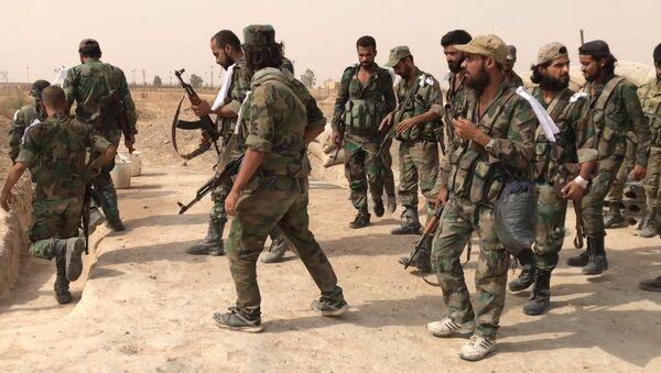 Militares del Ejército de Siria - Sputnik Mundo