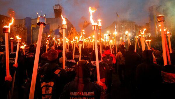 Marcha de nacionalistas en Kiev - Sputnik Mundo