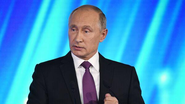 Президент РФ В. Путин принял участие в итоговой сессии Международного дискуссионного клуба Валдай - Sputnik Mundo