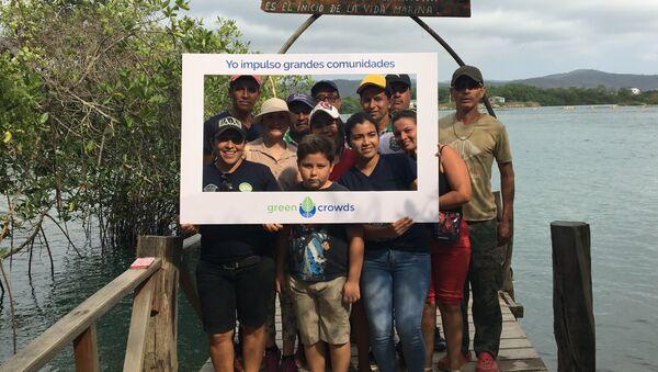 Foto de los beneficiarios del proyecto del PNUD de la comunidad San Jacinto, en Manabí - Sputnik Mundo