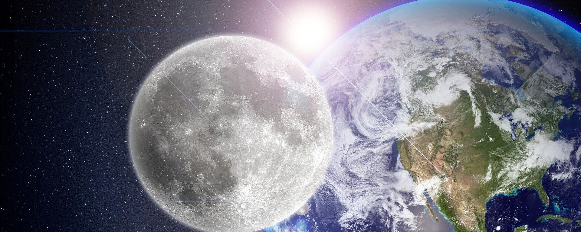La Luna, la Tierra y el Sol (imagen referencial) - Sputnik Mundo, 1920, 23.09.2021