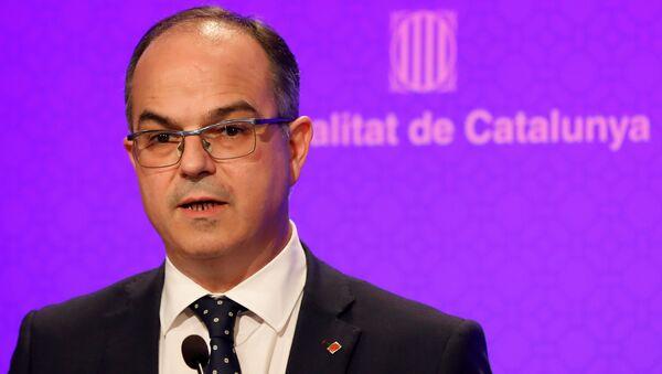 El portavoz del Gobierno catalán, Jordi Turull - Sputnik Mundo