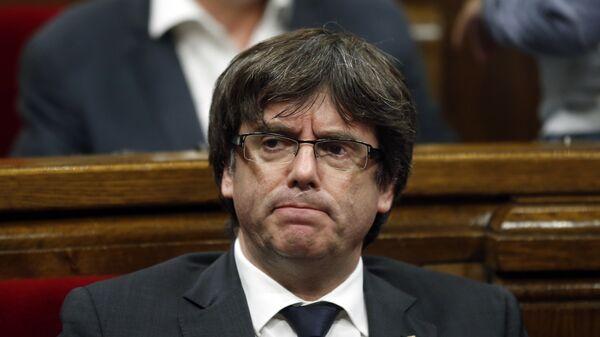 Carles Puigdemont, presidente del Gobierno catalán - Sputnik Mundo