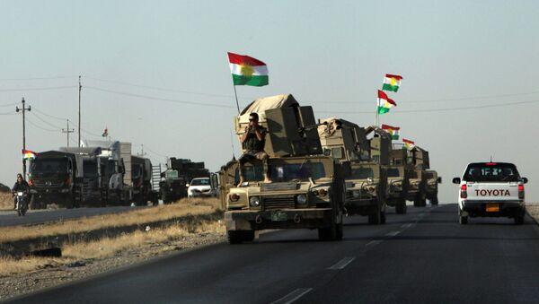 Los militares peshmerga en la región de Kirkuk - Sputnik Mundo