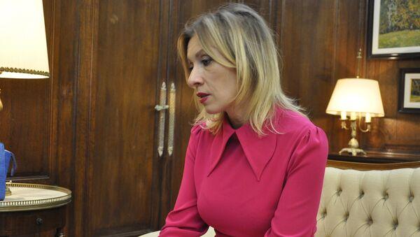 María Zajárova, portavoz oficial del ministerio de Asuntos Exteriores de Rusia - Sputnik Mundo