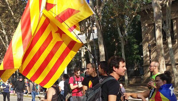 Partidarios de la independencia de Cataluña (archivo) - Sputnik Mundo