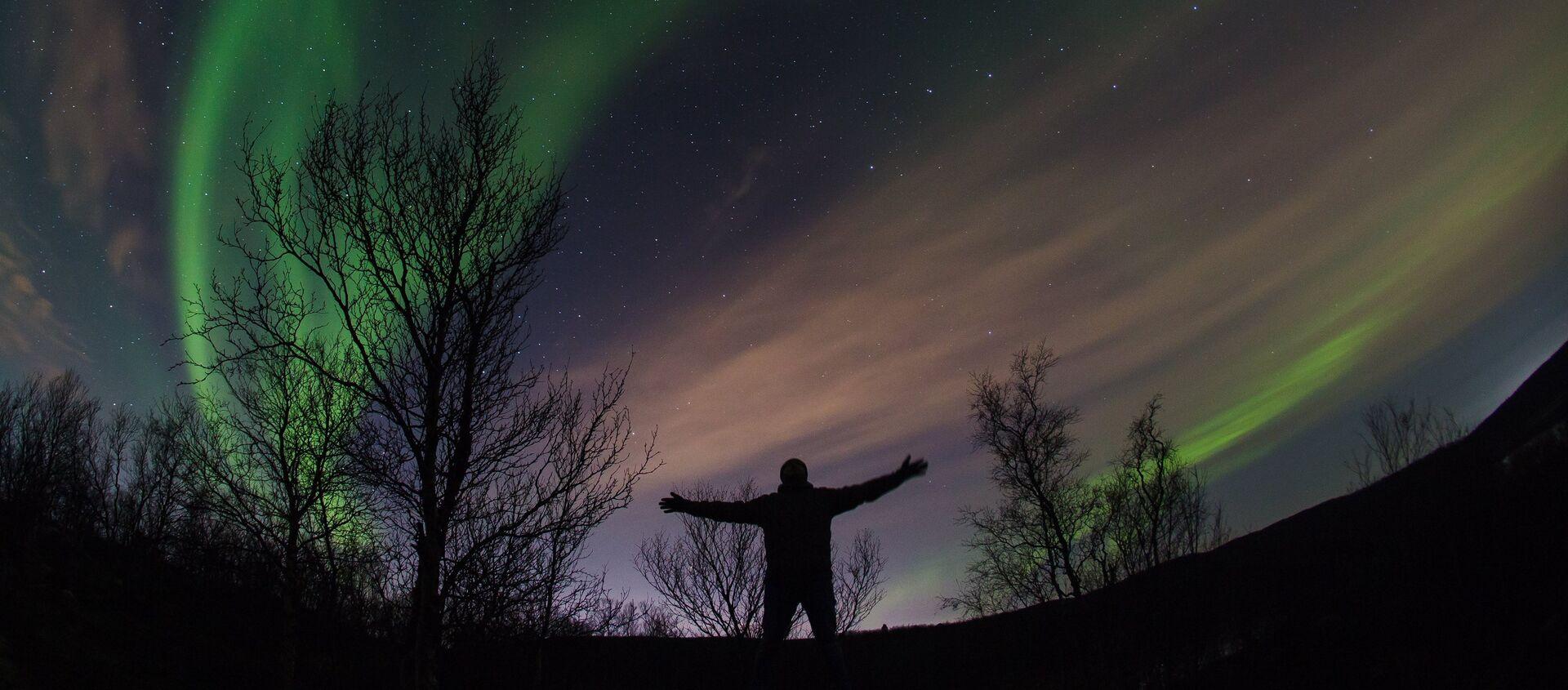 Aurora boreal en la región de Múrmansk - Sputnik Mundo, 1920, 12.12.2020