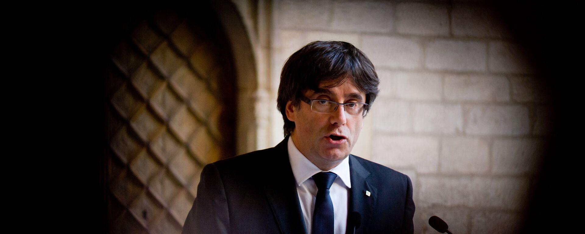 Carles Puigdemont, el expresidente del Gobierno catalán - Sputnik Mundo, 1920, 29.04.2019
