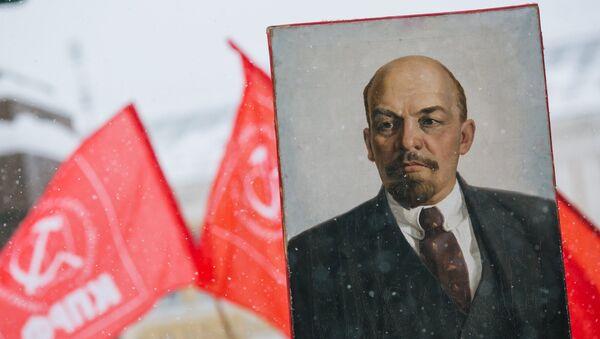 Retrato de Vladímir Lenin, líder de la Revolución rusa (archivo) - Sputnik Mundo