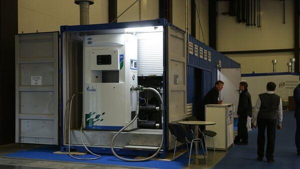 Sistema móvil de producción y venta de gas natural licuado 'Krioblok' - Sputnik Mundo