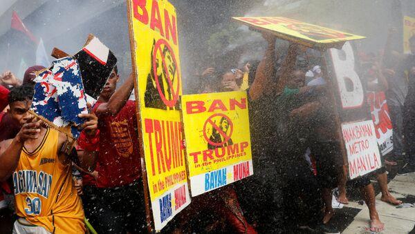 Protestas en Manila, la capital de Filipinas - Sputnik Mundo
