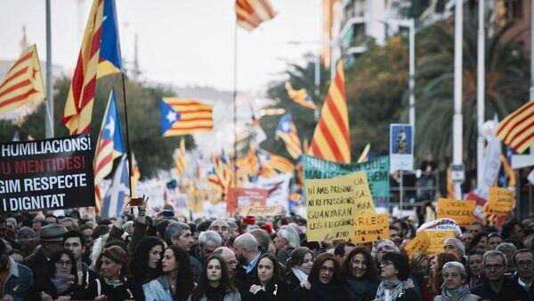 Protestas en Cataluña - Sputnik Mundo