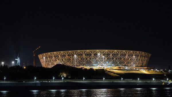 La construcción del estadio para el Mundial 2018 en Volgogrado - Sputnik Mundo