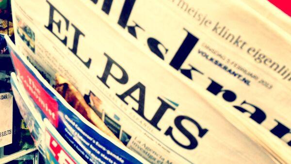 Prensa española, la portada del diario El País (archivo) - Sputnik Mundo